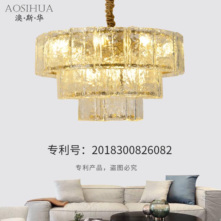 ASA-BL17618玻璃简约吊灯