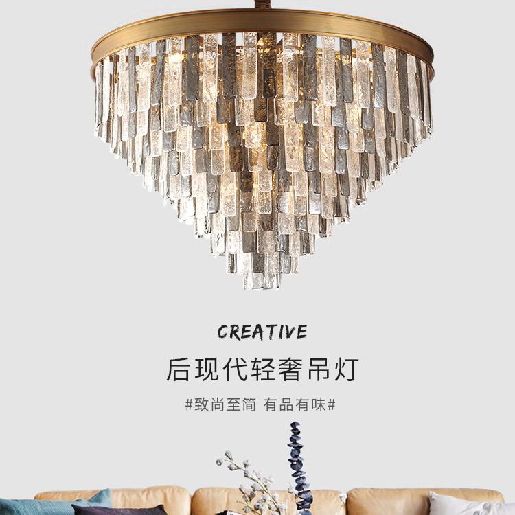 ASA-17903创意金古铜色水晶灯