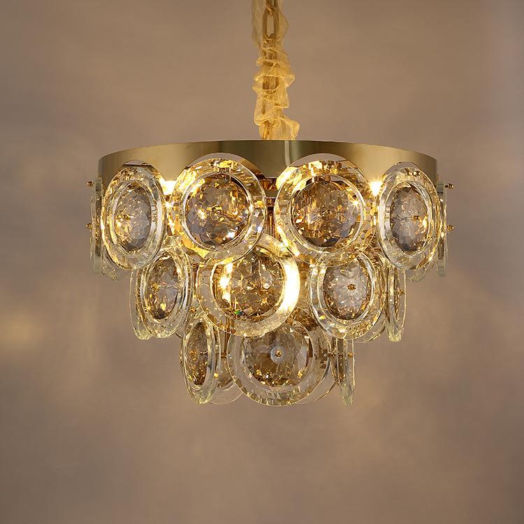 ASA-17979轻奢水晶不锈钢吊灯