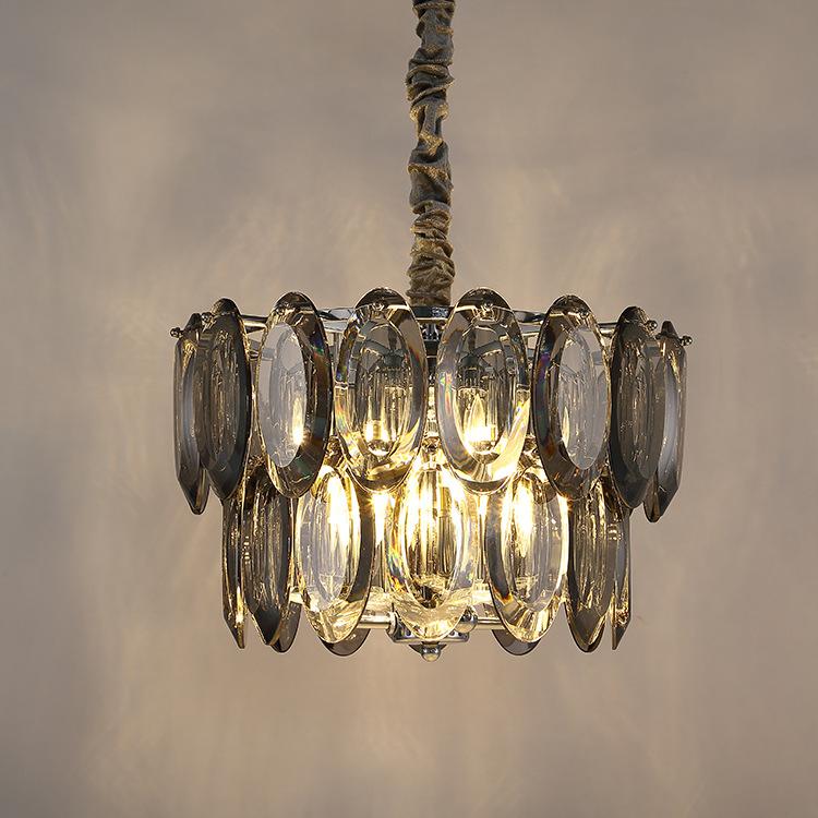 ASA-17986铬色不锈钢卧室LED水晶灯