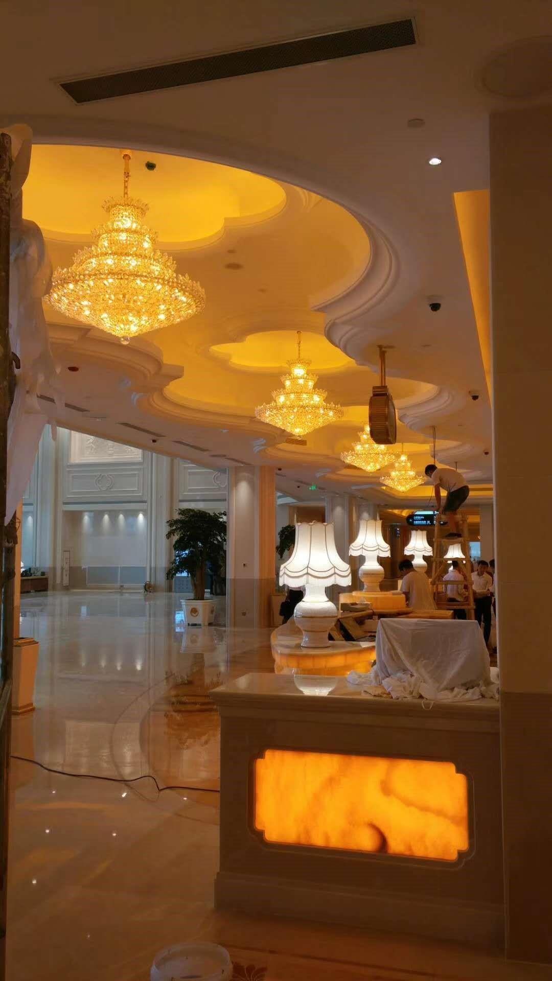 常州白金汉爵大酒店灯饰安装工程