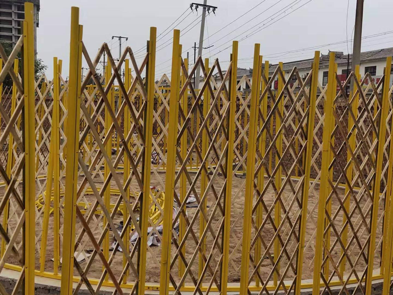 竹艺蒙古包安装现场