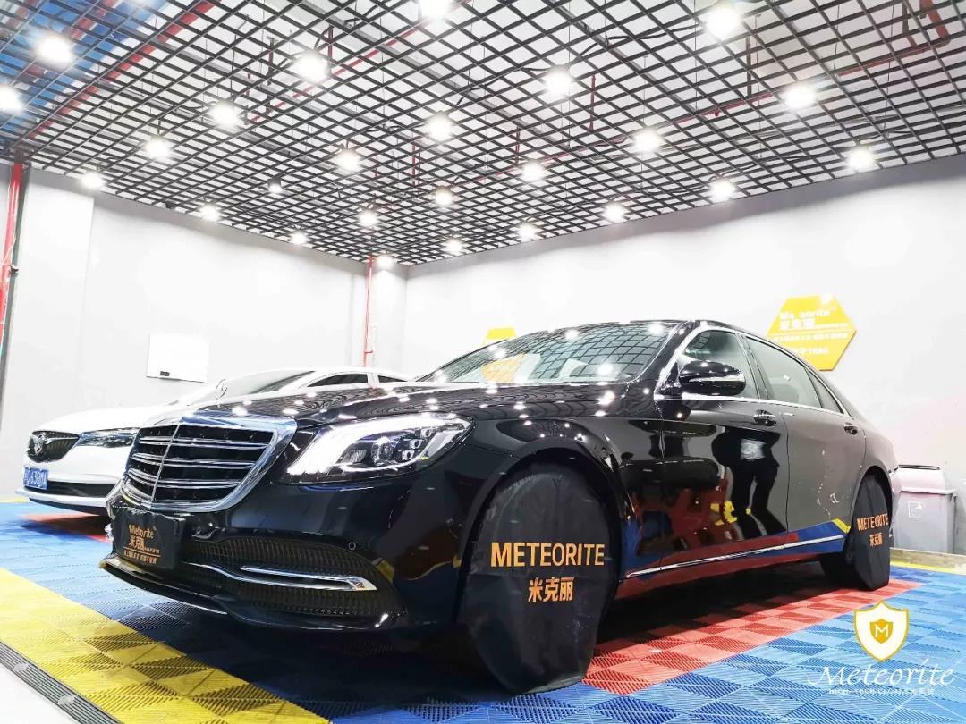 奔驰S350贴Meteorite隐形车衣,保持光彩照人