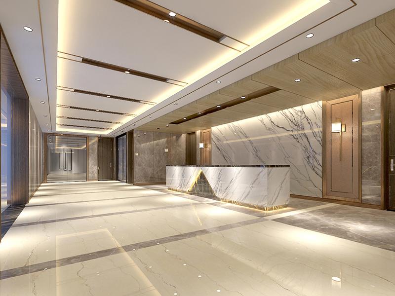 【轻奢新中式】宜兴万达房地产办公室设计