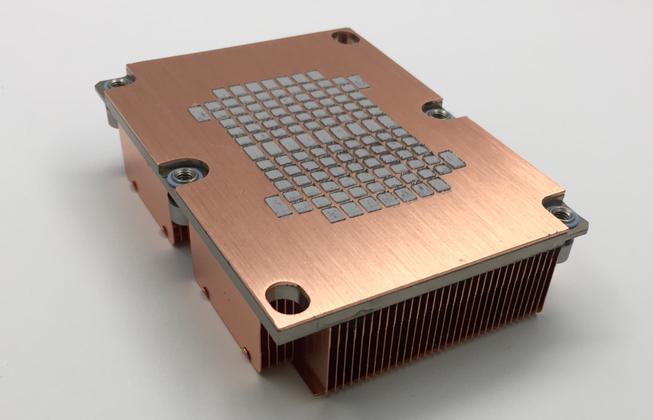 1U-3647銅底+鋁底+銅FIN焊接