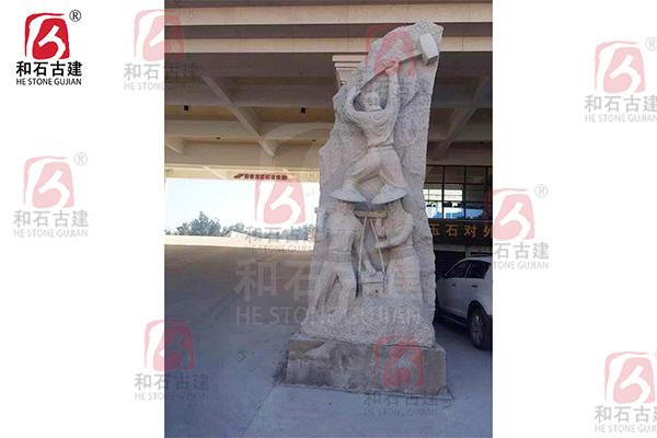 惠安女石雕