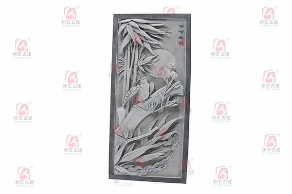 花鸟浮雕-节节生枝