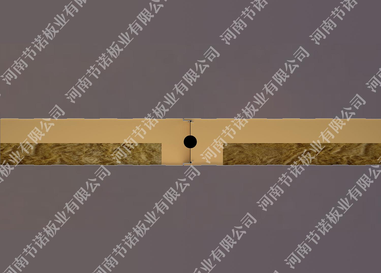 1+1岩棉聚氨酯冷库板(浇注式)