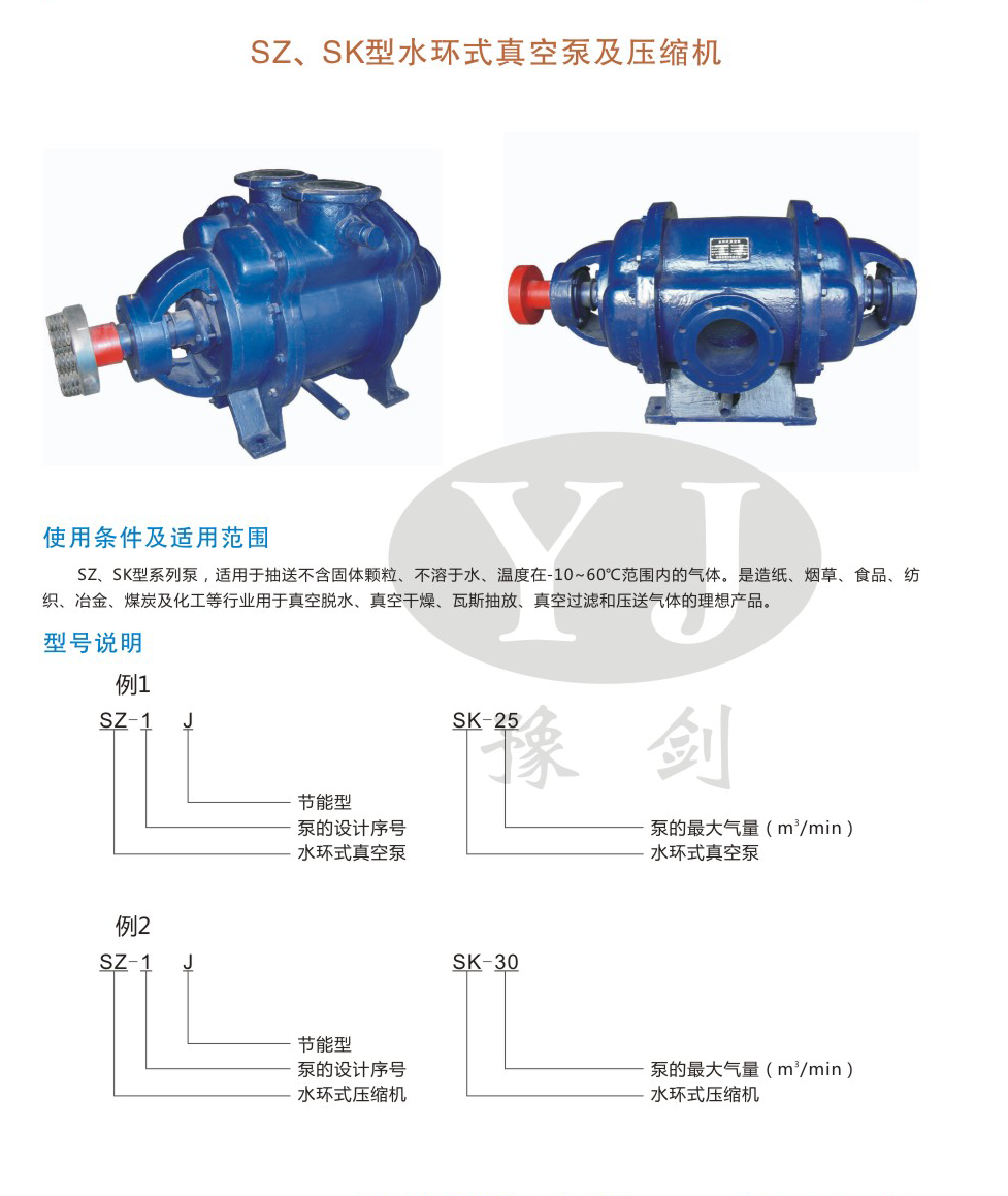 SZJ,SK系列水環式真空泵