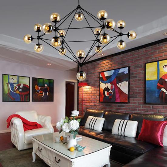 卧室和客厅应该选择吊灯还是射灯?