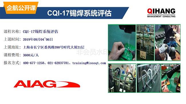 CQI-17锡焊系统评估