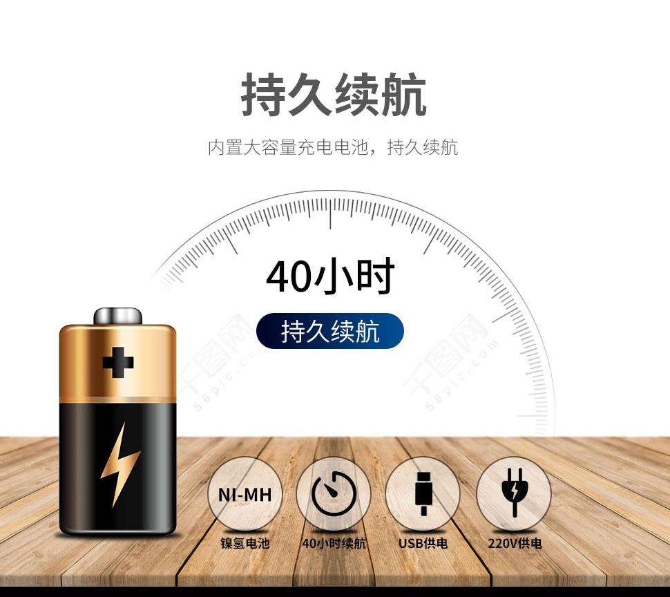 欧普士便携式高温金属红外测温仪P20的电池续航能力,可高达40小时