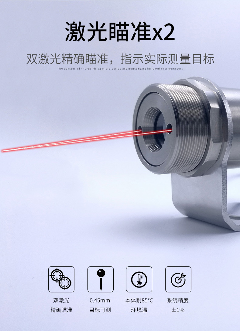 双激光瞄准方式和指示实际测量目标
