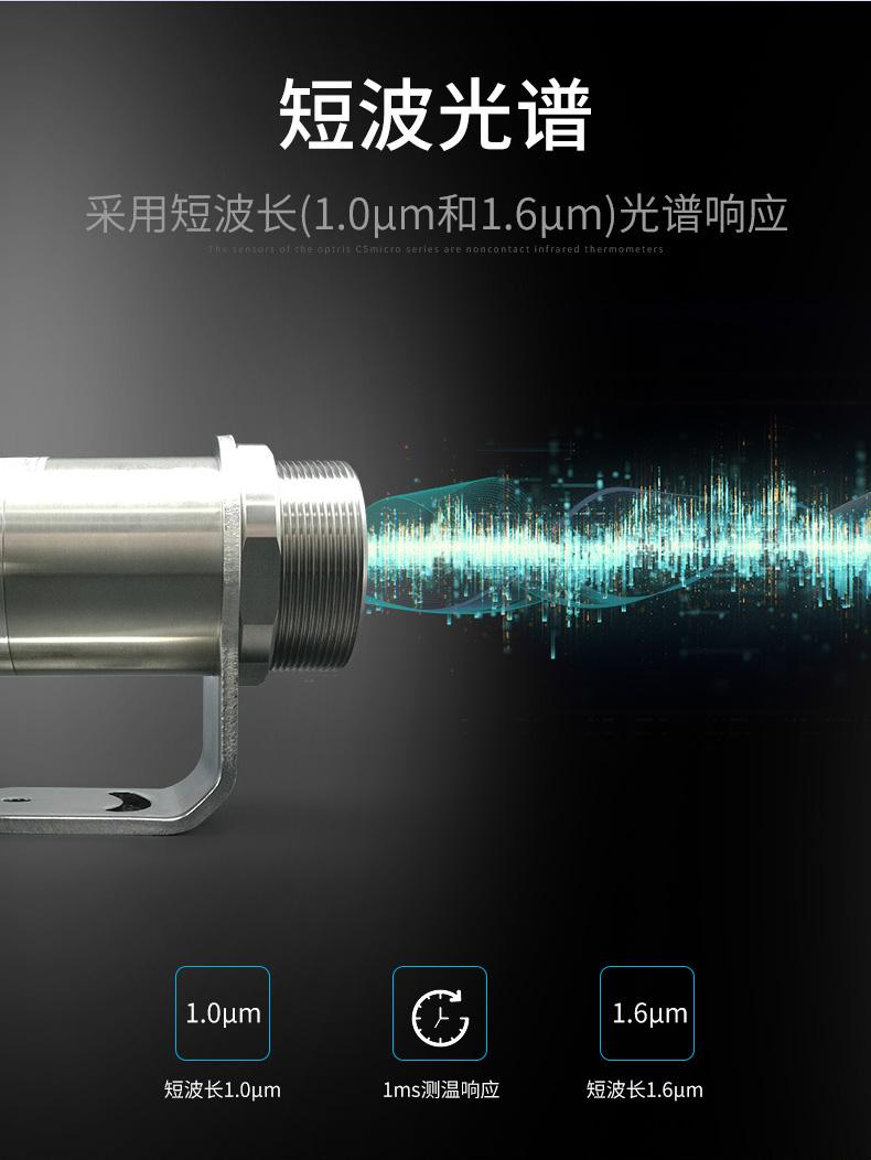红外测温仪采用短波长光谱响应