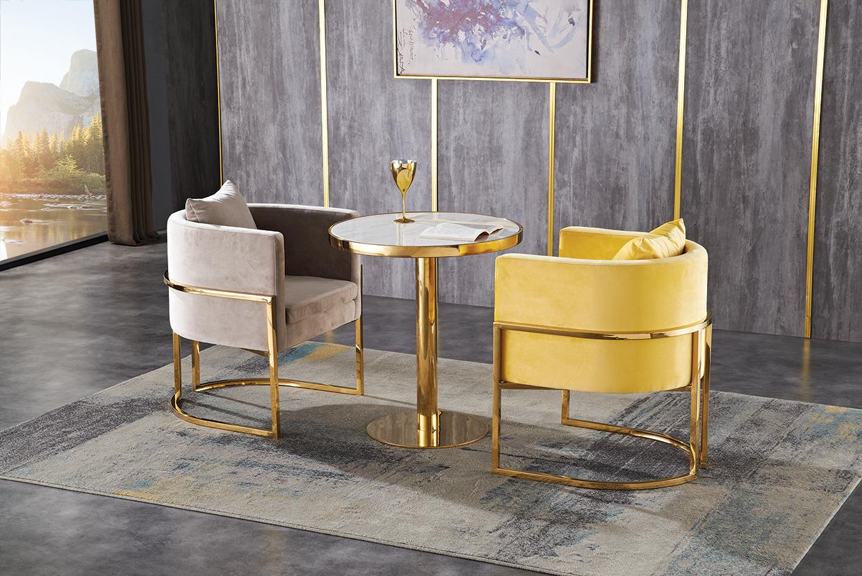 大理石桌  电镀椅XF1921