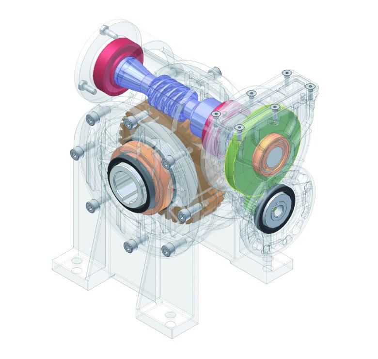 一级蜗轮蜗杆减速机