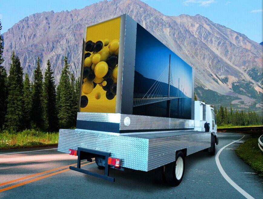 LED广告车流动广告服务范围_简迈传媒