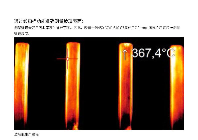 通过线扫描功能准确测量玻璃表面温度