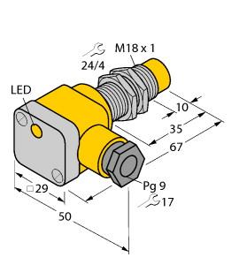 NI10-G18-Y1X电感式传感器