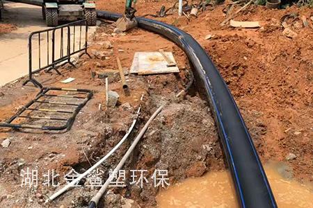 HDPE给水管工地