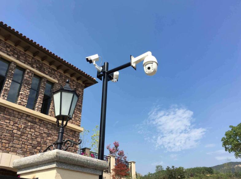 上海外滩别墅监控摄像头安装案例!