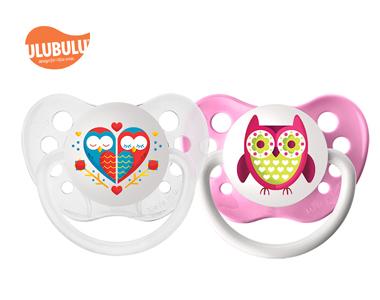 ULUBULU无比乐爱情鸟& 猫头鹰两入组6-18个月宝宝安抚奶嘴