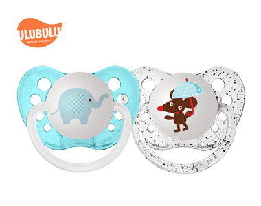ULUBULU无比乐0-6个月新生儿无比乐大象& 老鼠安抚奶嘴