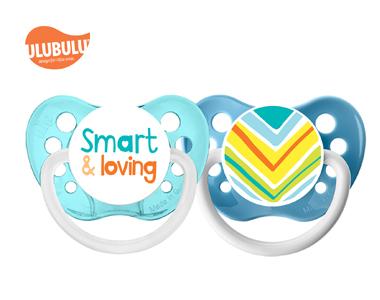ULUBULU无比乐0-6个月新生儿宝宝字母聪明&爱两入组安抚奶嘴