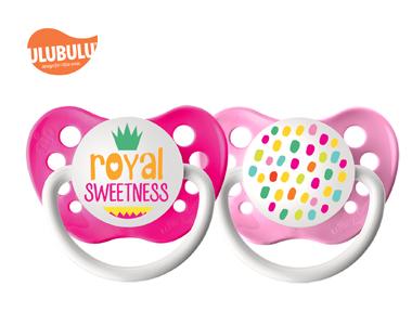 ULUBULU无比乐宝宝字母皇家甜蜜两入组6-18个月宝宝安抚奶嘴