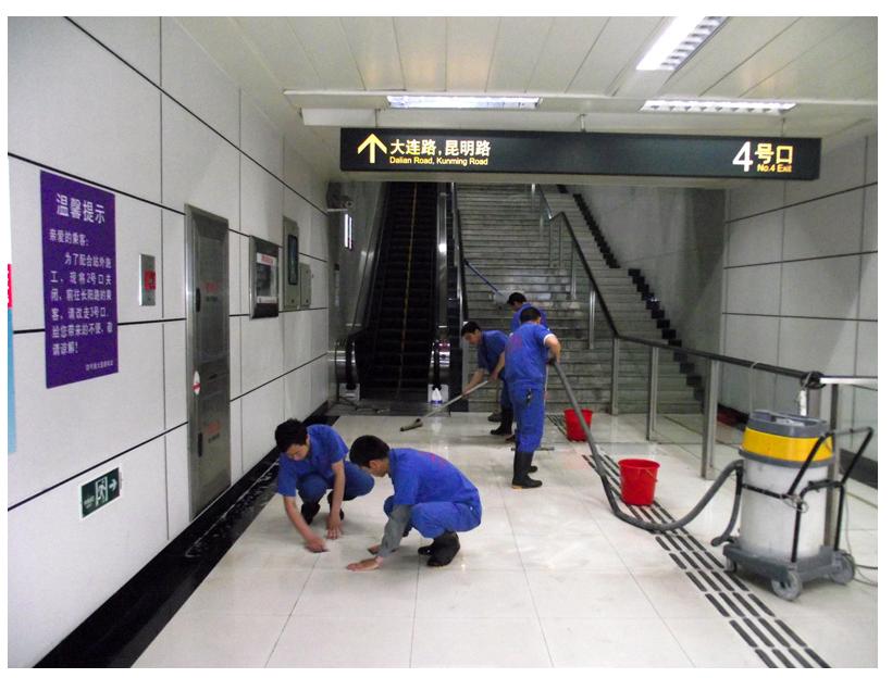 上海地铁1号线-10号线部分车站施工现场