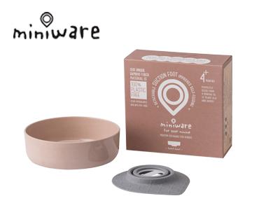 miniware天然竹纤维辅食宝宝学习儿童餐具点心碗