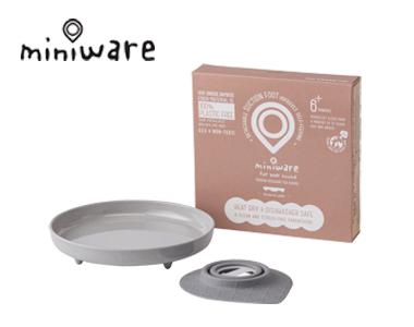 miniware天然竹纤维辅食宝宝学习儿童餐具面包盘