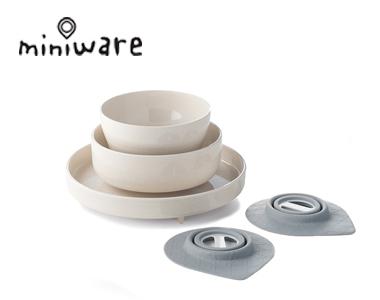 miniware天然竹纤维环保小食神儿童牛奶麦片五入组餐具