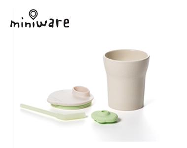 miniware天然竹纤维环保辅食儿童学习水杯