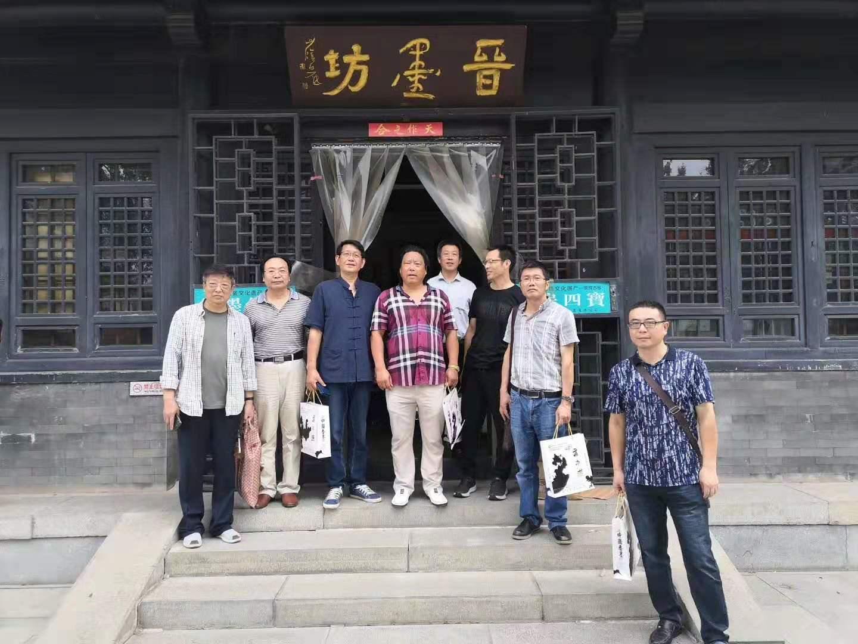 泰州市书法家协会组织书家赴晋墨坊采访交流