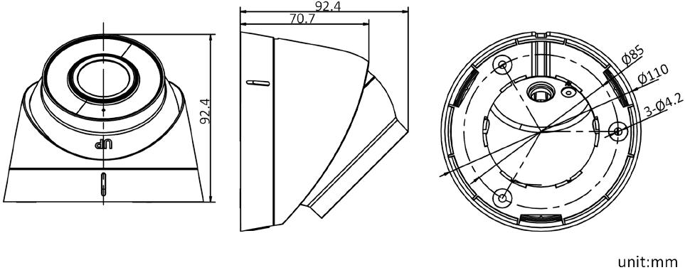 音频半球DS-IPC-T12H2-I(/PoE)