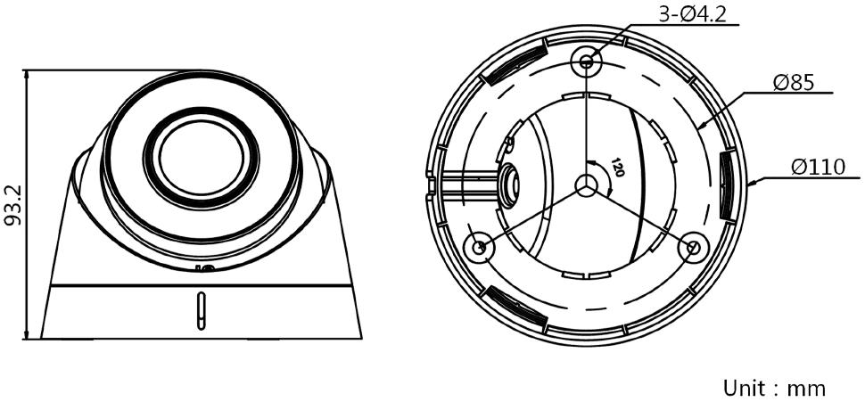 紅外半球DS-IPC-T12H-I(/PoE)