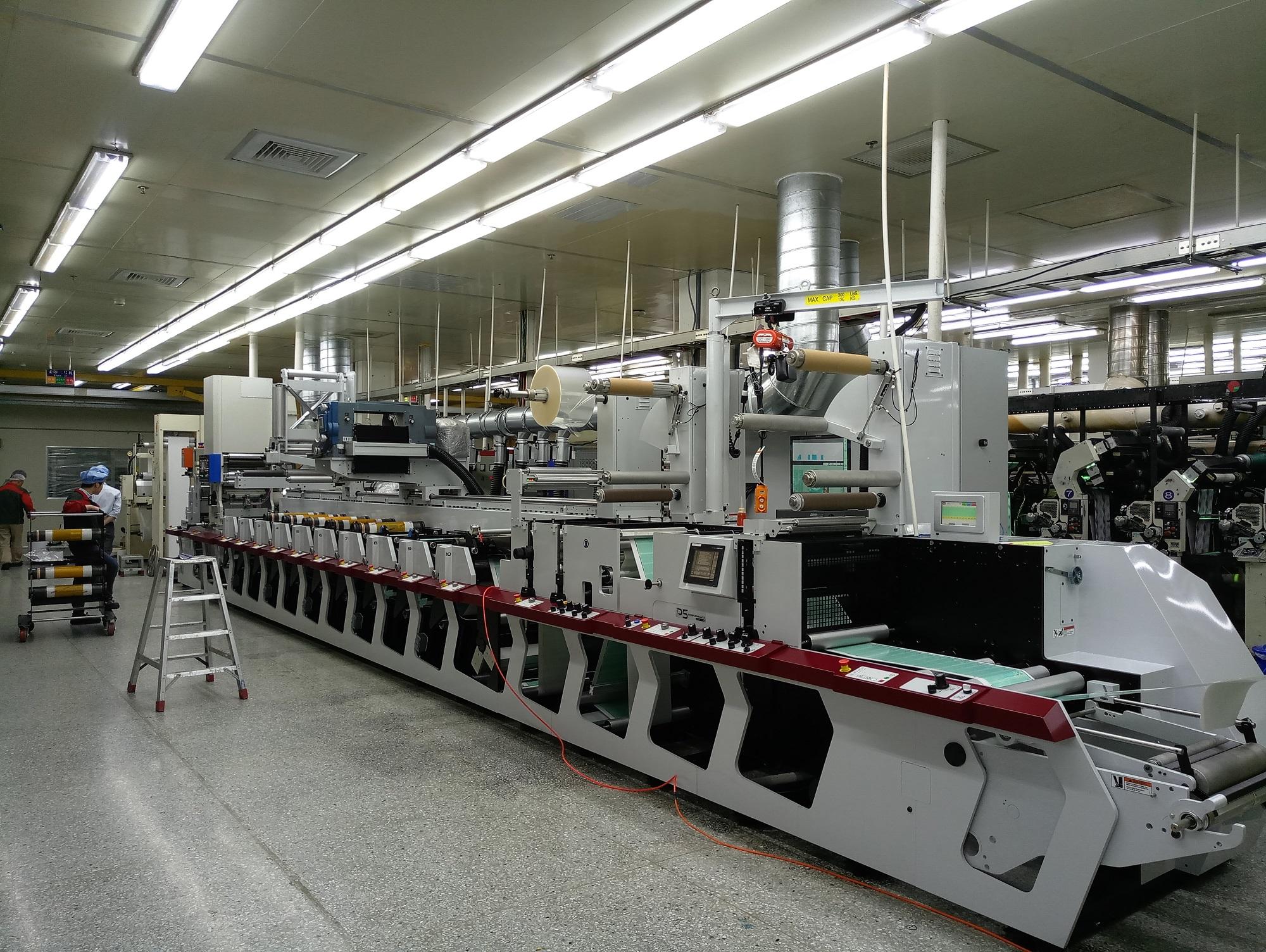 标签印刷设备制作快递包装袋的大市场