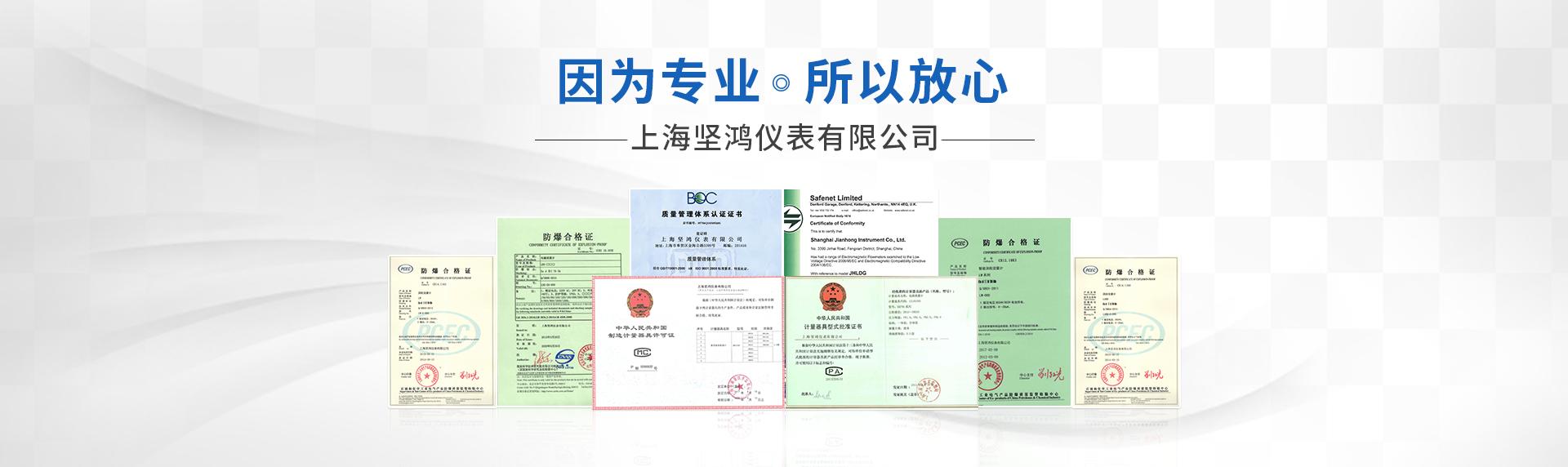 荣誉资质-上海坚鸿仪表有限公司