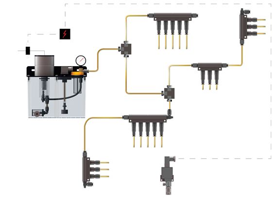 Single-line lubrication system