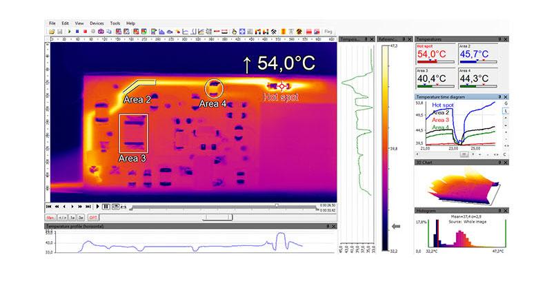 显微镜头红外热像仪成像细节