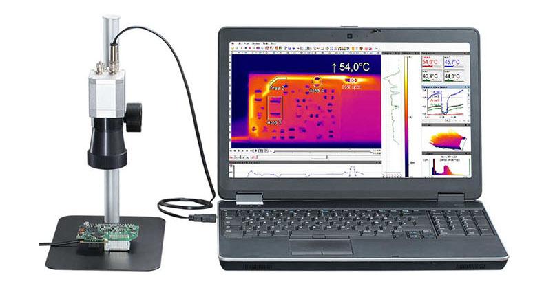 显微镜头红外热像仪同步PC热像画面