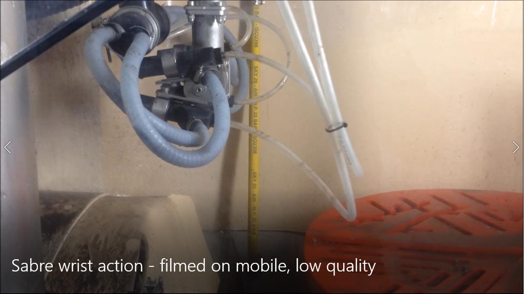 Sabre wrist action - filmed on mobile, low quality