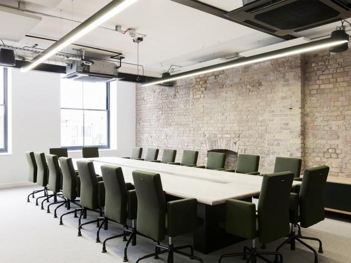 中小型办公室设计会议室效果图