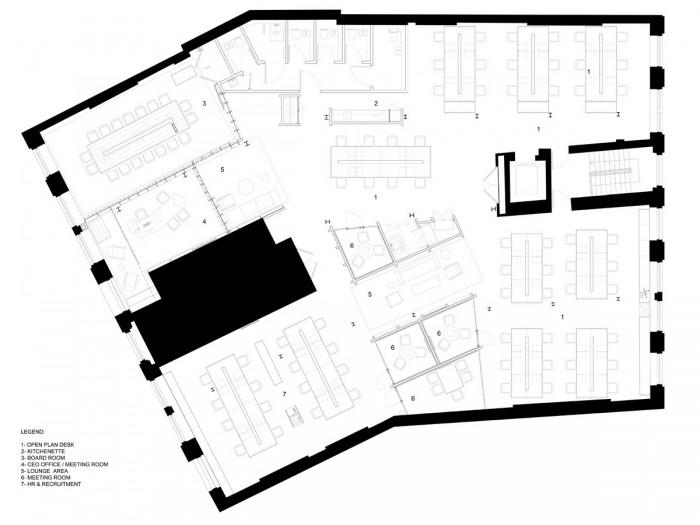 中小型办公室设计平面图