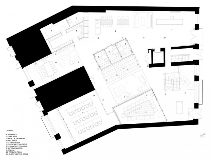中小型办公室设计平面图示