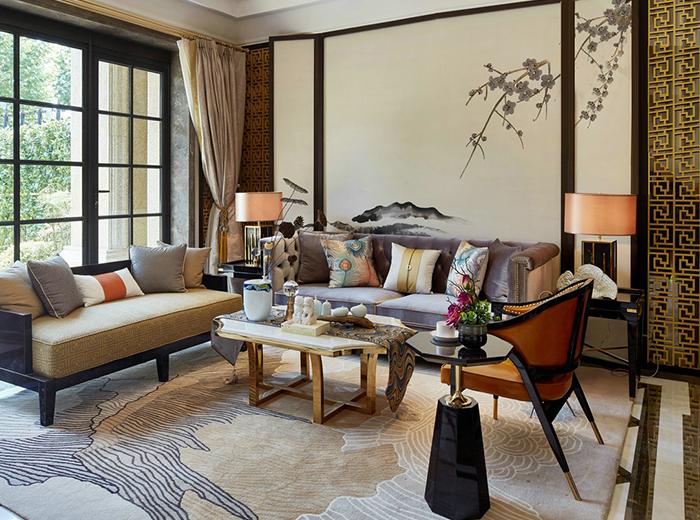 新中式风格大宅,室内设计,室内装修,室内装潢