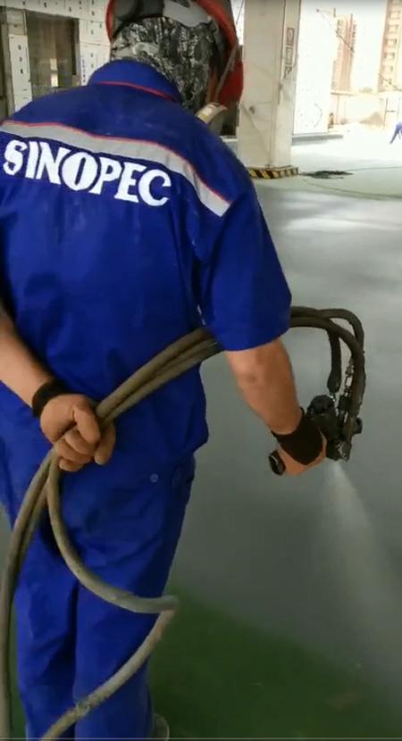 呼和浩特中石化加油站应用聚脲产品