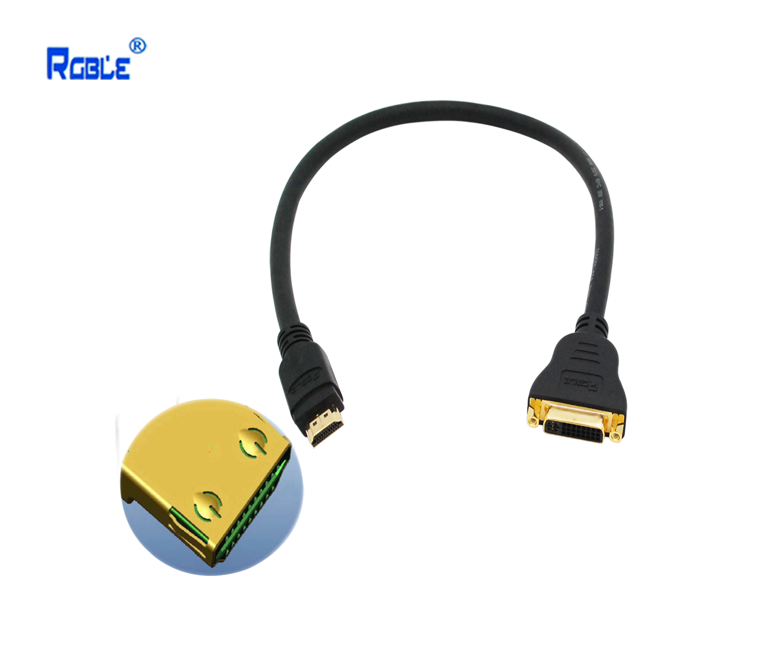 HDMI公转DVI母转接线(带C型锁)