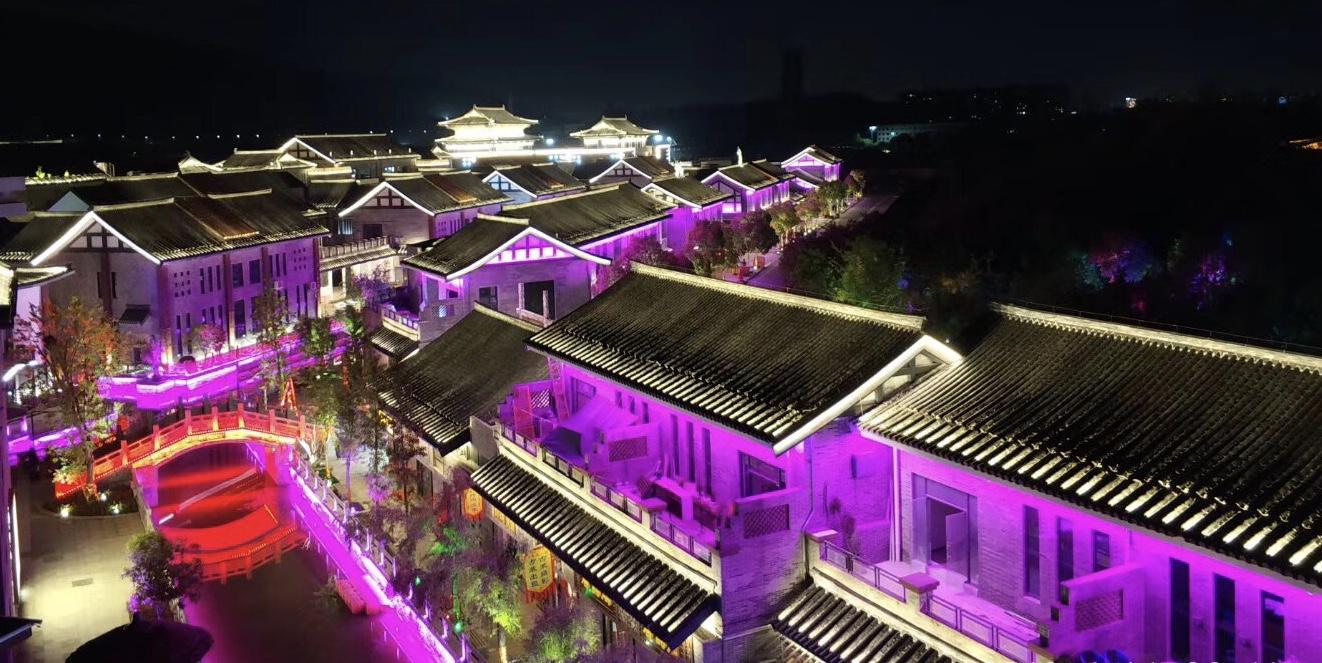 襄阳唐人街景观亮化工程